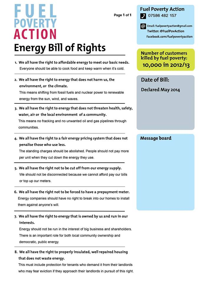 The FPA Energy Bill of Rights